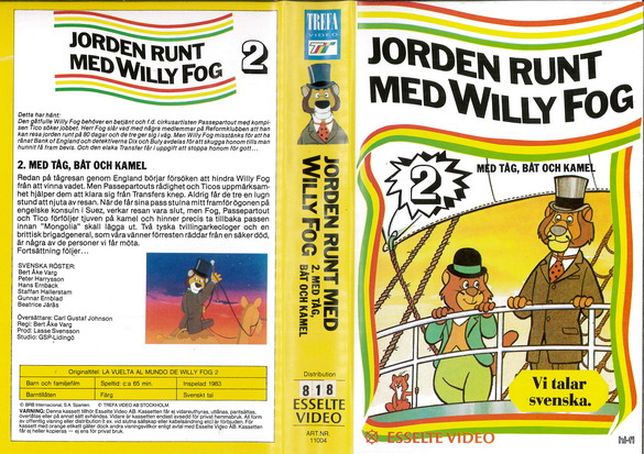 11004 JORDEN RUNT MED WILLY FOG DEL 2 (VHS)