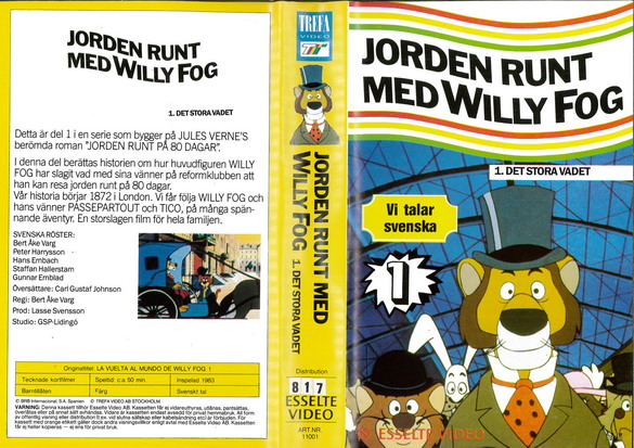 11001 JORDEN RUNT MED WILLY FOG DEL 1 (VHS)