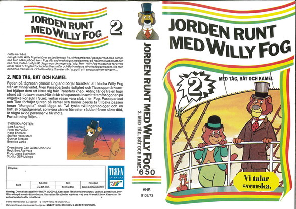 9102/73 JORDEN RUNT MED WILLY FOG DEL 2 (VHS)