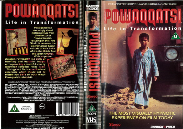 PAWAQQATSI (VHS) UK