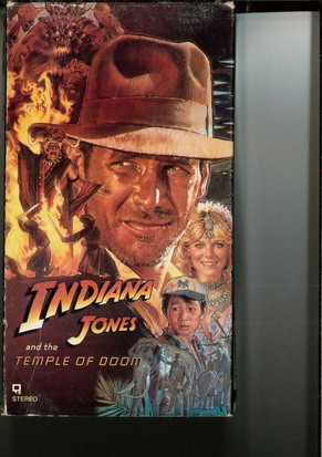 INDIANA JONES AND THE TAMPLE OF DOOM (VHS) USA