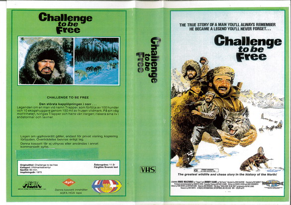 CHALLANGE TO BE FREE (VHS) KOPIERAT OMSLAG