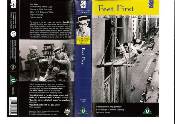 FEET FIRST (VHS) UK