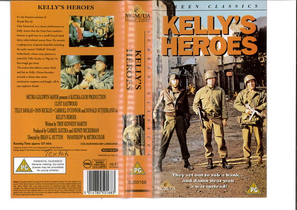 KELLY'S HEROES (UK)(VHS)