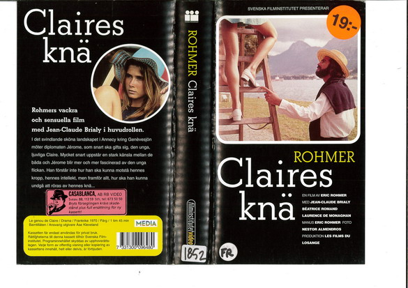 CLAIRES KNÄ (VHS)