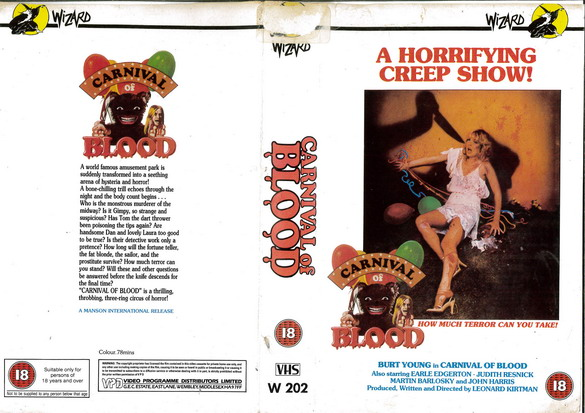 CARNIVAL OF BLOOD  (VHS)  UK