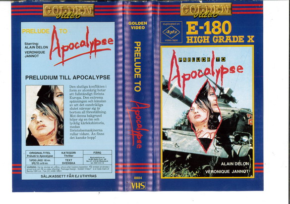 PRELUDE TO APOCALYPSE (VHS)