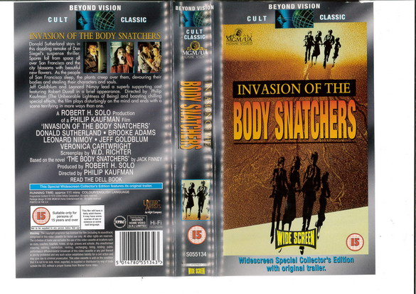 INVASION OF THE BODY SNATCHERS - 1978 (VHS) UK