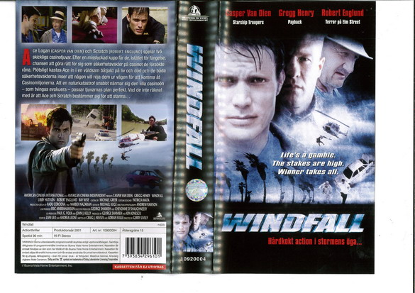 WINDFALL (VHS)