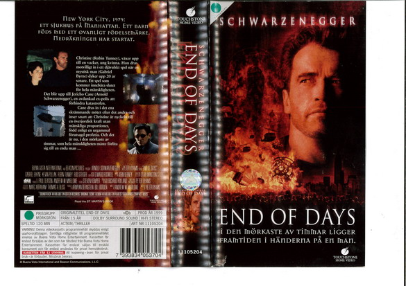 END OF DAYS (VHS)