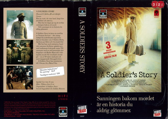 25037 A SOLDIER'S STORY (VHS)