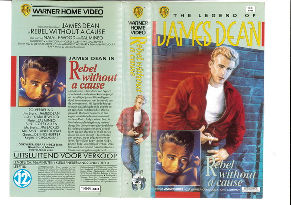 REBEL WITHOUT A CAUSE (VHS) HOL