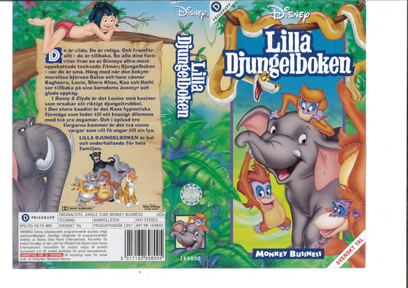 Lilla Djungelboken: Monkey Business (vhs)