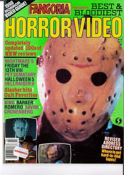 FANGORIA PRESENTS NR 2 HORROR VIDEO