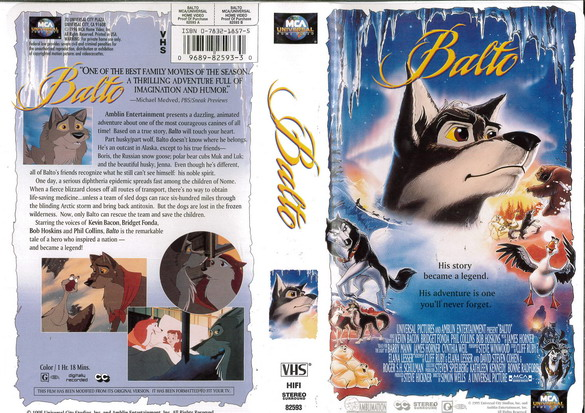 BALTO  (VHS) (USA-IMPORT)