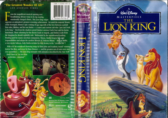 LION KING  (VHS) (USA-IMPORT)