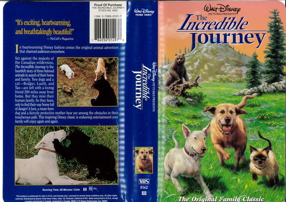 INCREDIBLE JOURNEY  (VHS) (USA-IMPORT)