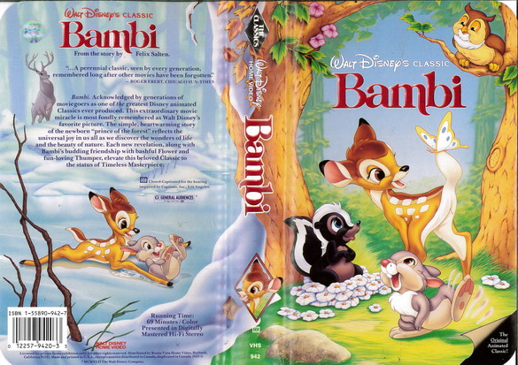 BAMBI  (VHS) (USA-IMPORT)