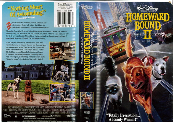 HOMEWARD BOUND 2 (VHS) (USA-IMPORT)