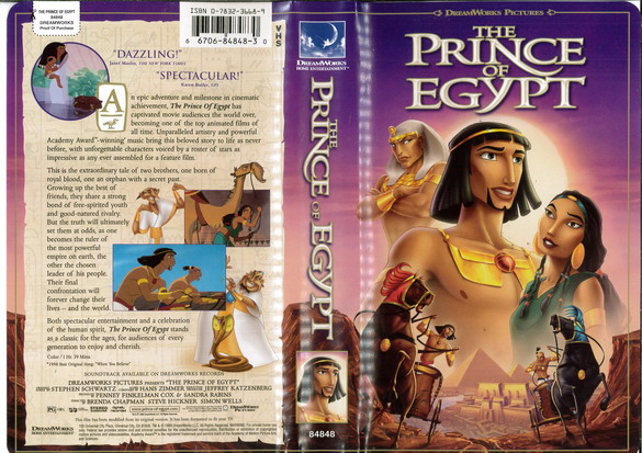 PRINCE OF EGYPT  (VHS) (USA-IMPORT)