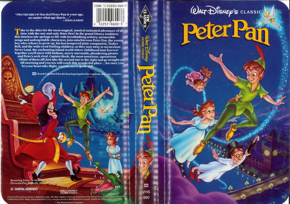 PETER PAN  (VHS) (USA-IMPORT)