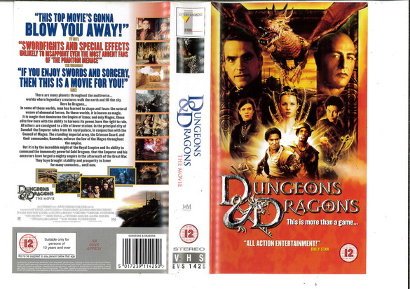 DUNGEONS & DRAGONS (VHS) UK