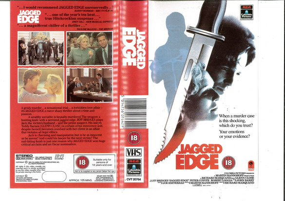JAGGED EDGE (VHS) UK
