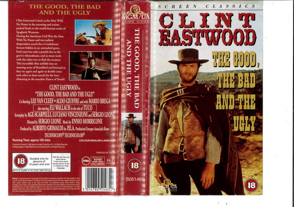 THE GOOD,THE BAD AND THE UGLY (VHS) UK