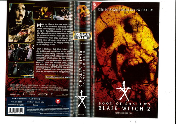 BLAIR WITCH 2 - BOOK OF SHADOWS (VHS)