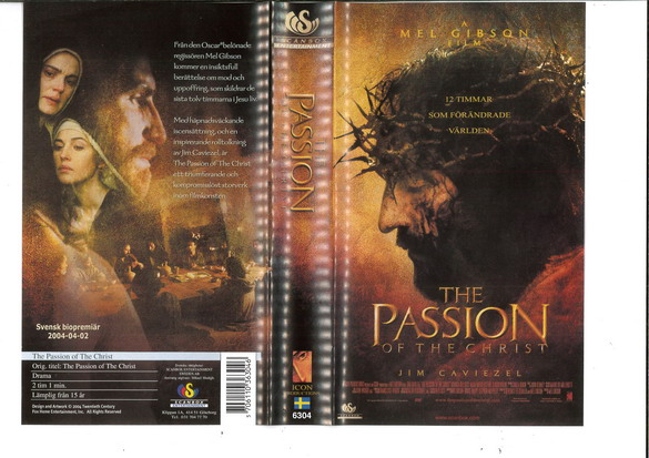 PASSION OF THE CHRIST (VHS)