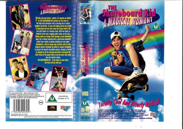 SKATBOARD KID - MAGICAL MOMENT (VHS) UK