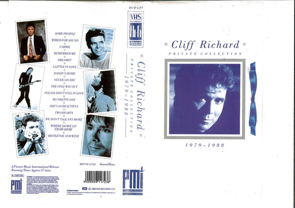CLIFF RICHARD - PRIVATE COLLECTION (VHS)