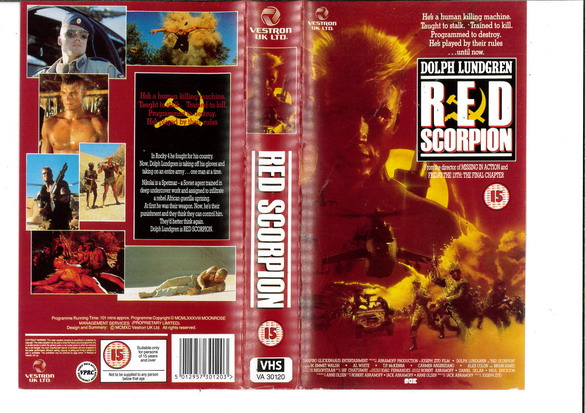 RED SCORPION  (VHS) UK