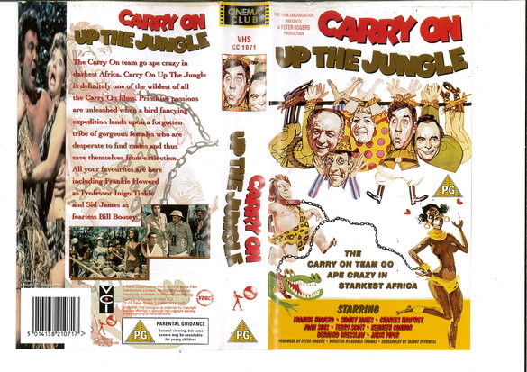 CARRY ON - UP THE JUNGLE (VHS) UK