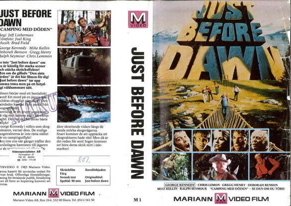 M 01 Just Before Dawn (VHS)