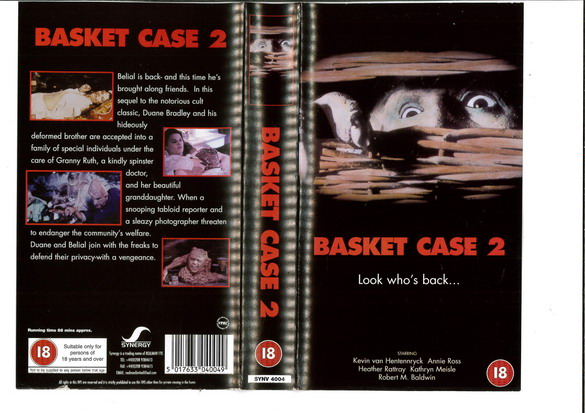 BASKET CASE 2 (VHS) UK