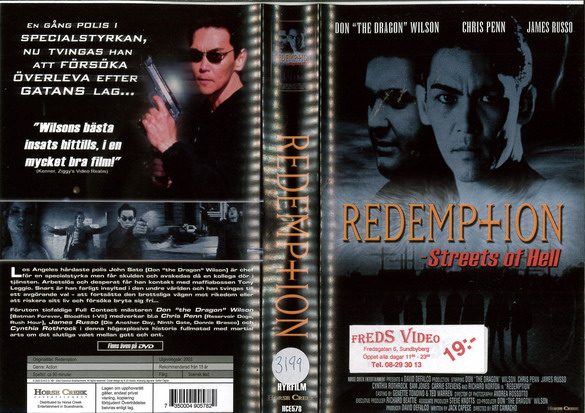 HCE 578 REDEMPTION - STREETS OF HELL (VHS)