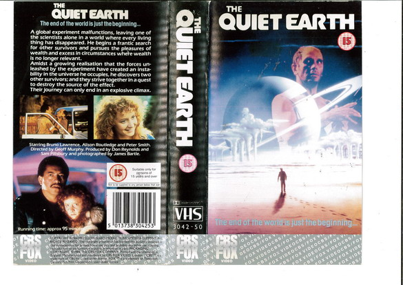 QUIET EARTH (VHS) UK