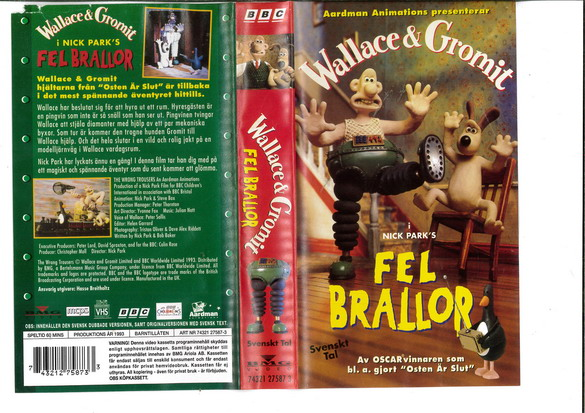 WALLACE & GROMIT: FEL BRALLOR (VHS)