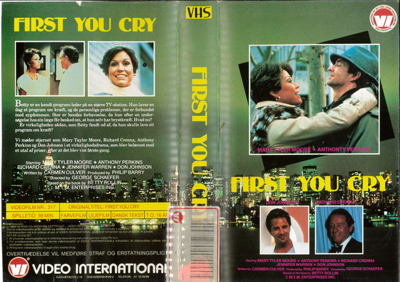 FIRST YOU CRY (VHS) DK