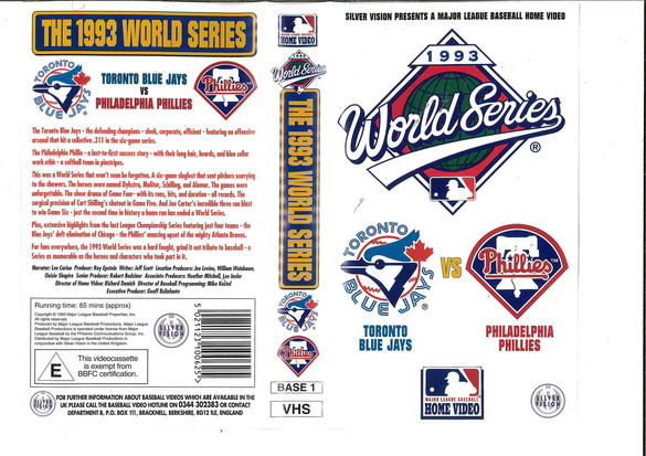 1993 WORLD SERIES (VHS) UK
