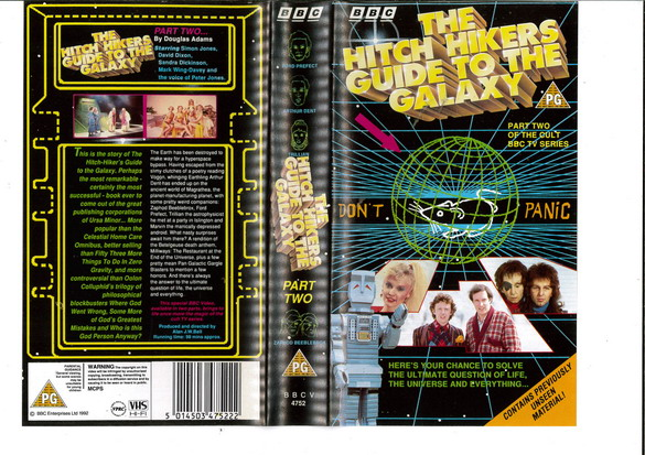 HITCH HIKERS GUIDE TO THE GALAXY PART 2 (VHS) UK