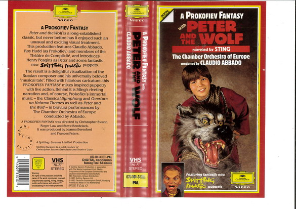 PETER AND THE WOLF (VHS)UK