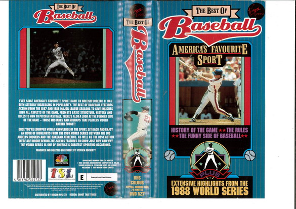 BEST OF BASEBALL (VHS) UK