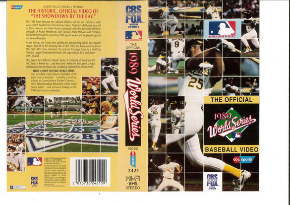 1980 WORLD SERIES BASEBALL VIDEO (VHS) UK