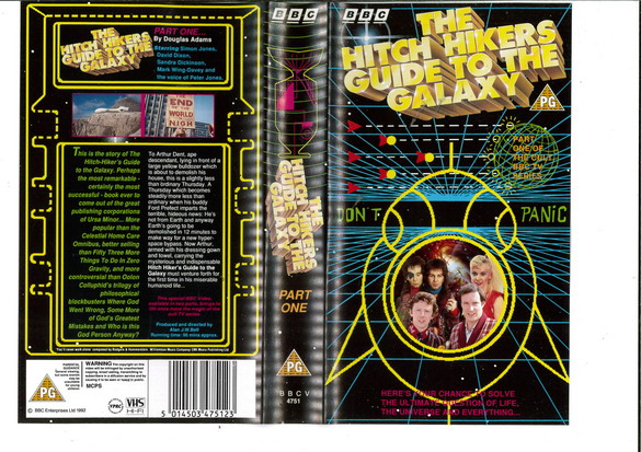 HITCH HIKERS GUIDE TO THE GALAXY PART 1 (VHS) UK