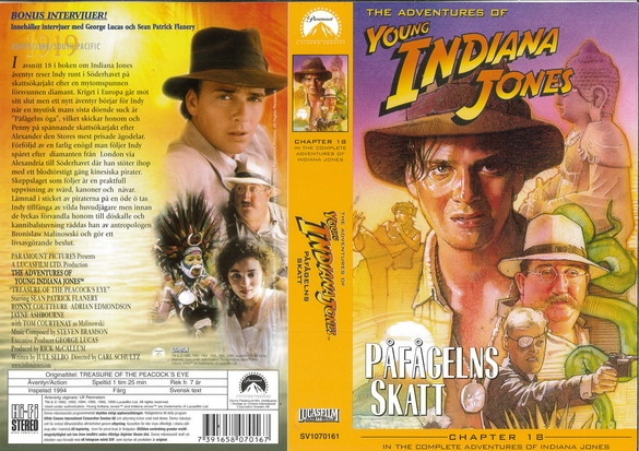 YOUNG INDIANA JONES 18 PÅFÅGELNS SKATT