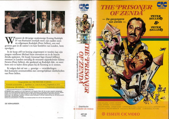PRISONERS OF ZENDA (VHS) HOL