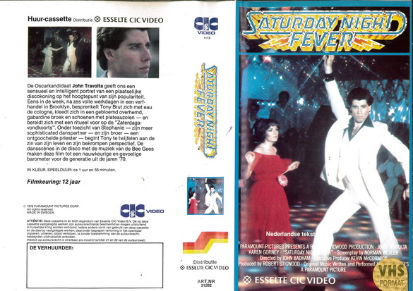 SATURDAY NIGHT FEVER (VHS) HOL