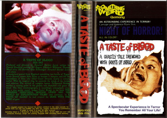 A TASTE OF BLOOD (VHS) IMPORT